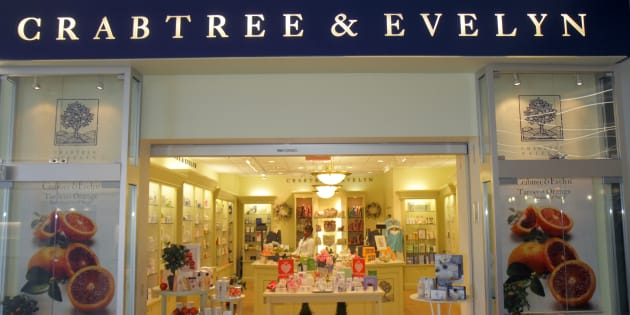 A Crabtree & Evelyn entrance at McCarran International Airport, Las Vegas, Nev.  Crabtree and Evelyn Canada Inc. is closing its stores and has filed for bankruptcy protection.