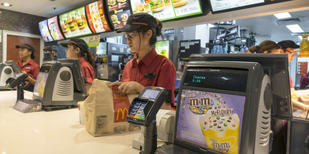 Fast food workers are among those getting their pay trimmed.