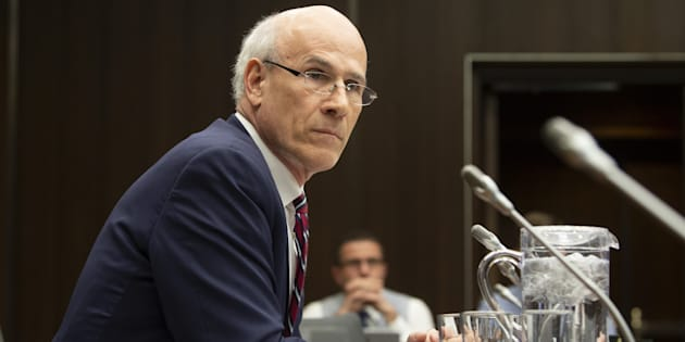 Clerk of the Privy Council Michael Wernick waits to appear before the justice committee meeting in Ottawa on Feb. 21, 2019.