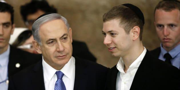 Benjamin Netanyahu y su hijo Yair, visitando el Muro de las Lamentaciones en 2015.
