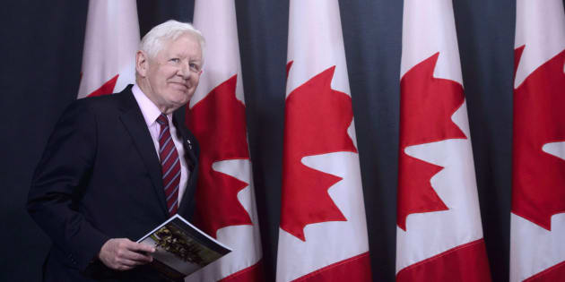 Bob Rae releases a report on the humanitarian and security crisis in Myanmar at a press conference in Ottawa on April 3, 2018.