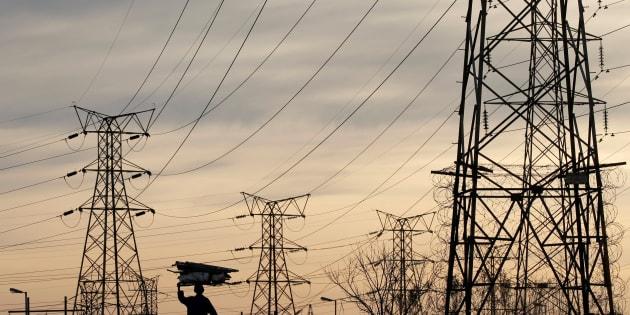 Eskom's electricity pylons in Soweto.