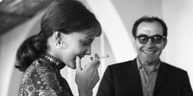 Anne Wiazemsky et Jean-Luc Godard en 1967.