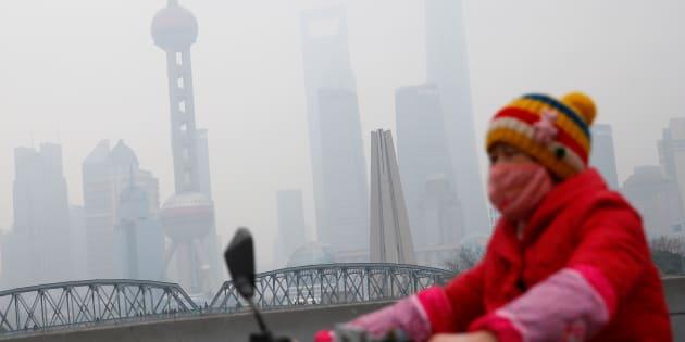 Aly Song  Reuters                       Une femme porte un masque antipollution à Shanghai en janvier
