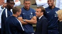 Macron face aux Bleus :