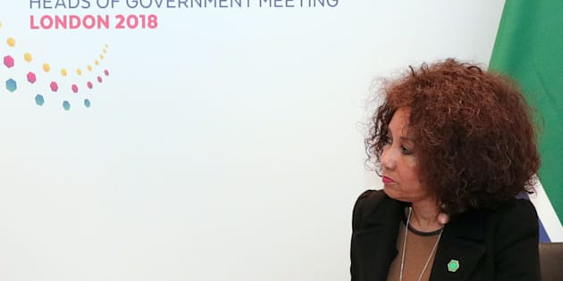 Minister of international relations and cooperation, Lindiwe Sisulu.