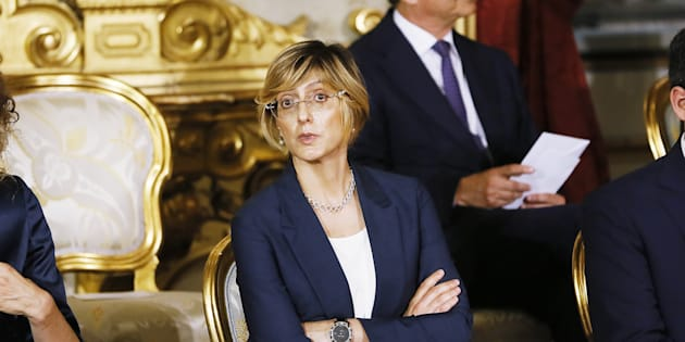 ROME, ITALY - JUNE 01:  Public Administration Minister Giulia Bongiorno attends the swearing in ceremony of the new government led by Prime Minister Giuseppe Conte at Palazzo del Quirinale on June 1, 2018 in Rome, Italy. Law professor Giuseppe Conte has been chosen as Italy's new prime minister by the leader of the 5-Star Movement, Luigi Di Maio, and League leader Matteo Salvini.  (Photo by Ernesto S. Ruscio/Getty Images)