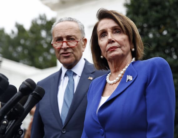 Democrats walk out on Trump after 'meltdown'