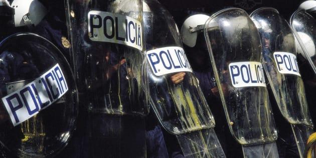 Un grupo de antidisturbios, en una imagen de archivo.
