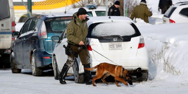 Québec après la fusillade ce lundi 30 janvier. REUTERS/Mathieu Belanger
