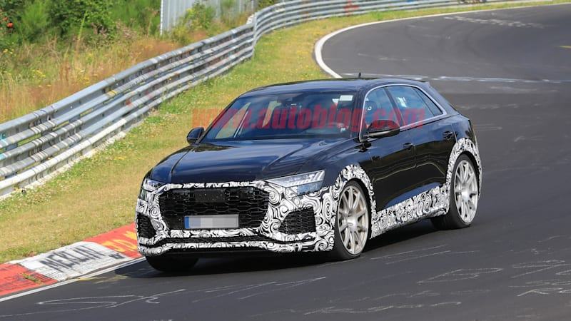 2020 Audi Rs Q8 Spied Testing At The Nurburgring Autoblog