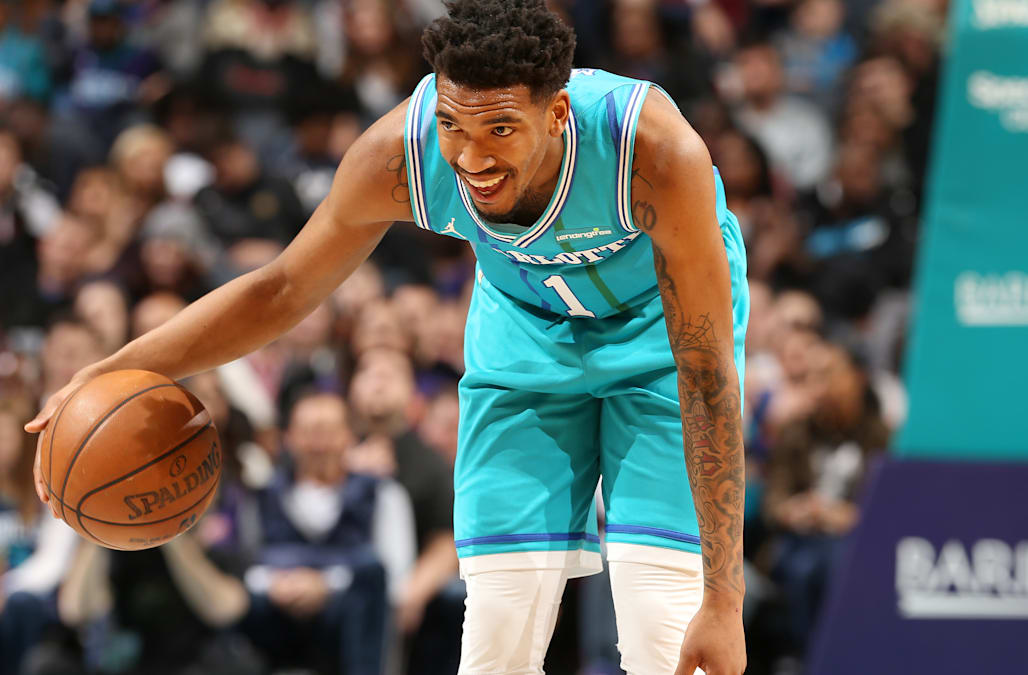 e7ae2280d3e Hornets G Malik Monk forgets to put on jersey for professional basketball  game