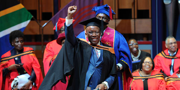 Economic Freedom Fighters (EFF) leader Julius Malema during his graduation ceremony on September 06, 2017 in Pretoria, South Africa.