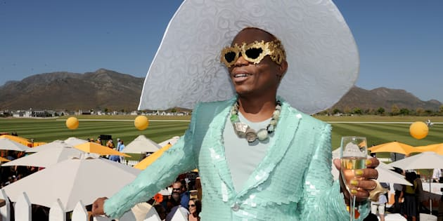 Somizi Mhlongo during the 2017 Veuve Clicquot Masters Polo at the Val de Vie Estate in March.