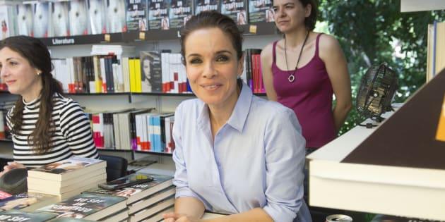 La periodista Carme Chaparro durante la presentación del libro 'No soy un monstruo' durante la Feria del Libro 2017 de Madrid.