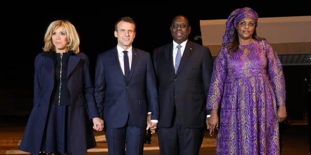 Emmanuel Macron et son épouse en compagnie du couple présidentiel sénégalais.