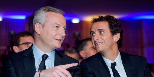 Le ministre de l'Economie Bruno Le Maire et le PDG de Carrefour Alexandre Bompard.