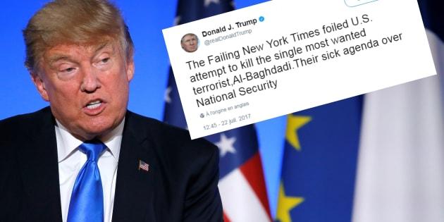 Si le chef de Daech n'est pas mort, c'est la faute du New York Times selon Trump