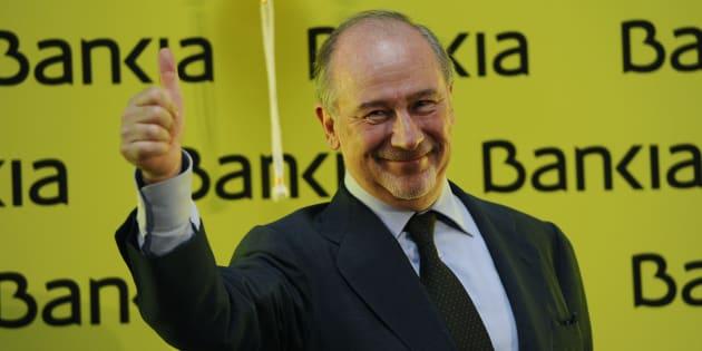 El exvicepresidente del Gobierno y expresidente de Bankia Rodrigo Rato en la salida a Bolsa de la entidad.