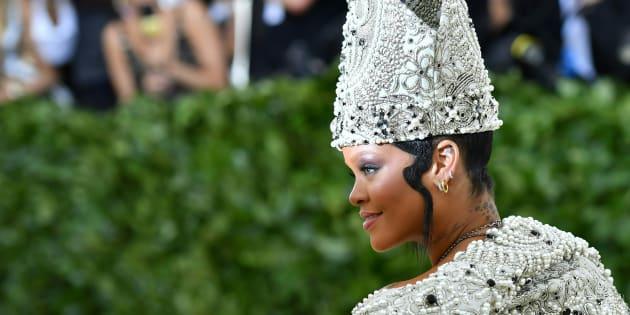 Rihanna se lleva el red carpet una vez más (Foto: ANGELA WEISS/AFP/Getty Images)
