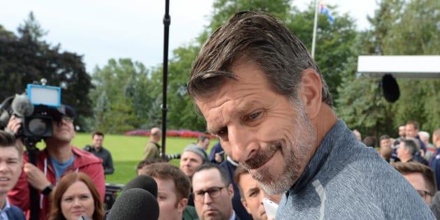 Marc Bergevin a rencontré les médias, lundi matin, dans le cadre du tournoi de golf du Canadien.
