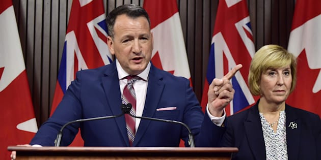 Ontario's Energy Minister Greg Rickford speaks at a press conference at Queen's Park in Toronto on Dec. 17, 2018.