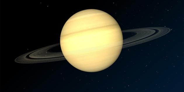 La planète Saturne en graphiques 3D