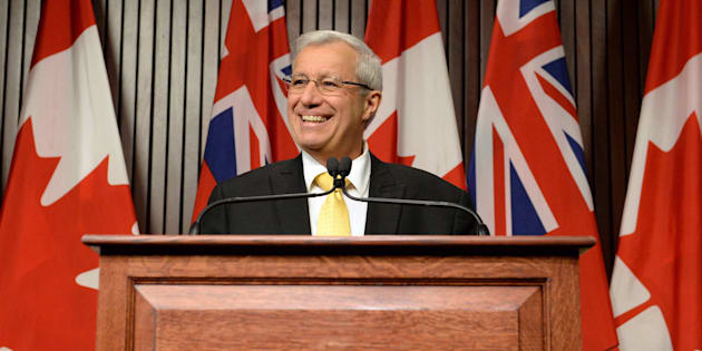 Ontario PC party interim leader Vic Fedeli speaks after a caucus meeting at Queen's Park in Toronto on Jan. 26, 2018.