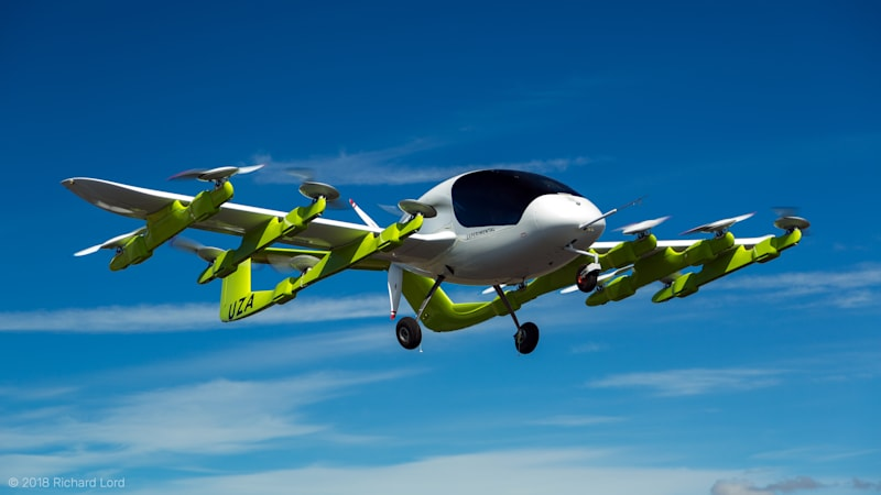 photo image Google co-founder's Kitty Hawk unveils its electric autonomous flying taxi