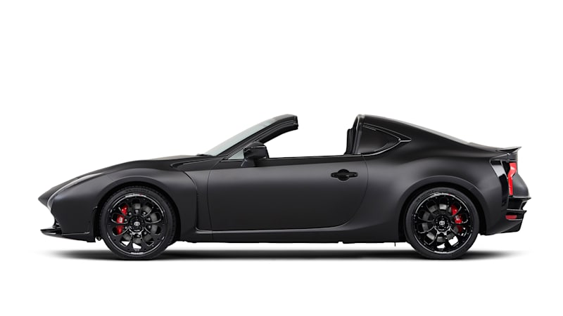 Toyota GR HV SPORTS concept is a matte black targa-topped grown-up GT86