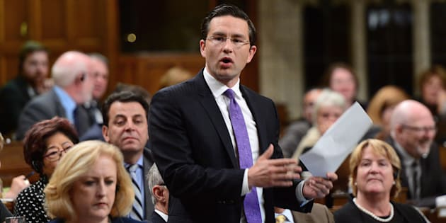 Conservative MP Pierre Poilievre stands during question period in the House of Commons on Parliament Hill in Ottawa on Oct. 5, 2017.