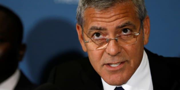 George Clooney à Washington le 12 septembre 2016.
