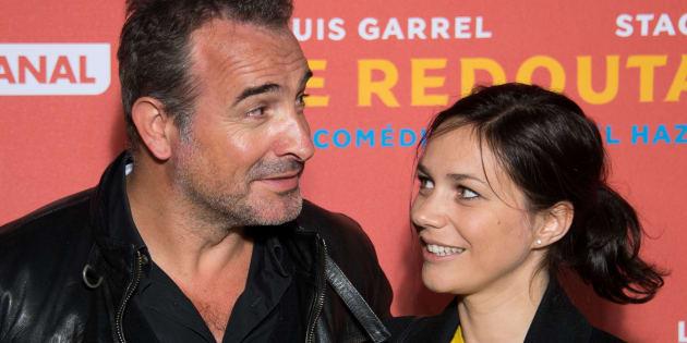 Jean Dujardin et Nathalie Pechalat pour la première du film 'Le Redoutable' en septembre 2017.