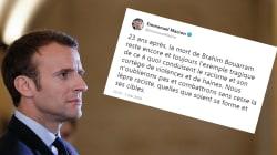 Macron salue la mémoire de Brahim Bouarram et dénonce la
