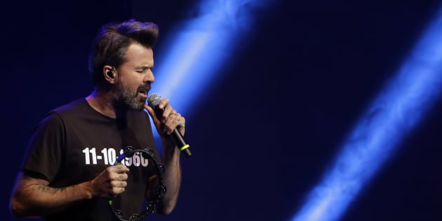 El cantante Pau Donés, durante la 64ª edición de los Premios Ondas 2017 en Sevilla.