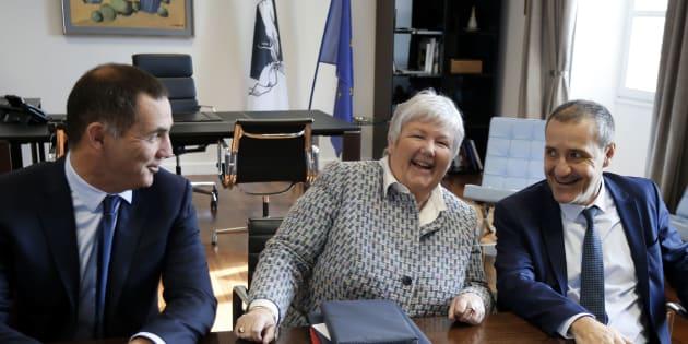"""Gilles Simeoni et Jean-Guy Talamoni saluent """"un déblocage"""" après la visite de Jacqueline Gourault, la madame Corse du gouvernement."""