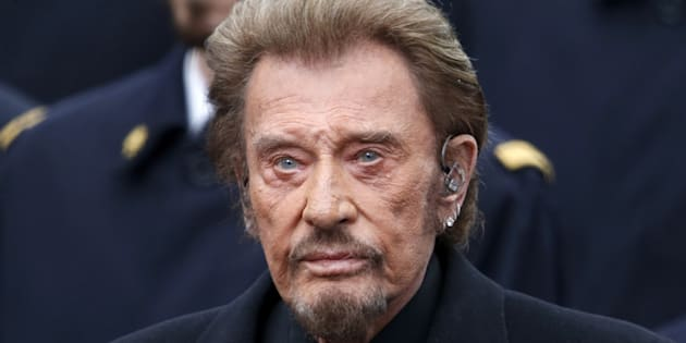 Johnny Hallyday à Paris le 10 janvier 2016.