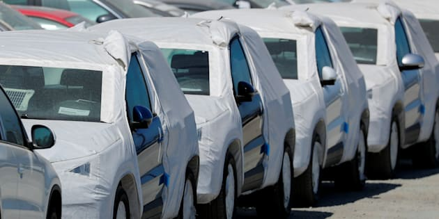 Volkswagen vehicles sit waiting for delivery after their arrival in the United States in Chula Vista, California, U.S. June 27, 2018.        REUTERS/Mike Blake