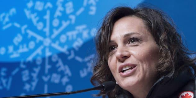 Isabelle Charest a été chef de mission pour le Canada aux Jeux oympiques de Pyeongchang en février dernier.