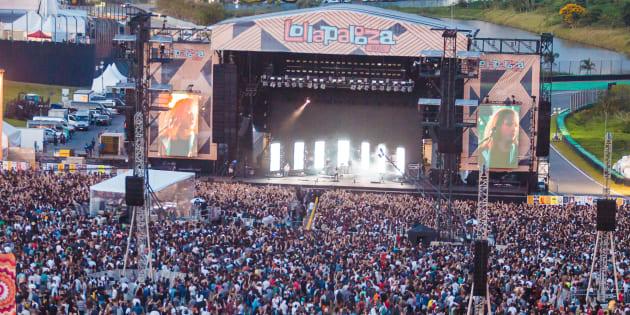 Le festival Lollapalooza au Brésil le 26 mars 2017.