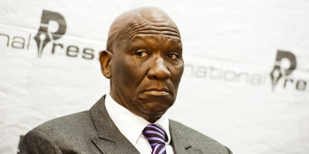 PRETORIA,  SOUTH AFRICA - JUNE 13 (SOUTH AFRICA OUT): Former national police commissioner Bheki Cele attends a press conference on June 13, 2012 in Pretoria, South Africa where he discussed his dismissal and his decision to go to court to challenge the Board of Inquiry's report which led to his dismissal. (Photo by Lisa Hnatowicz/Foto24/Gallo Images/Getty Images)