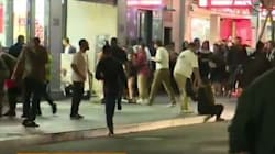 Police Use Pepper Spray To Subdue Wild Brawlers In