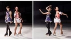 ザギトワ&メドベージェワ、魔法少女に変身 『まどマギ』衣装でCMにダブル出演