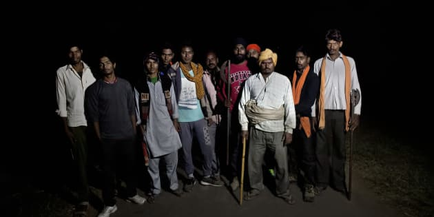 Members of a cow vigilante group in Ramgarh, Rajasthan, 2015.