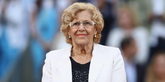 Manuela Carmena, regidora de Madrid, en La Caja Magica.   Julian Finney/Getty Images