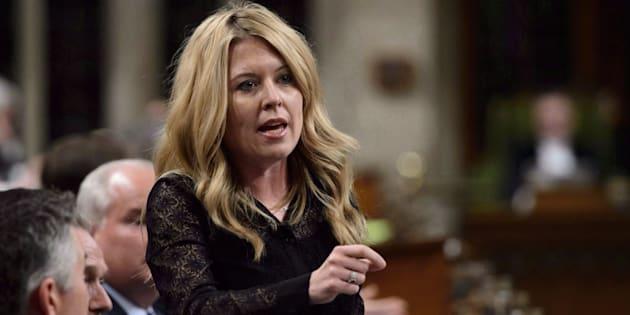 Conservative MP Michelle Rempel stands during question period in the House of Commons on Parliament Hill in Ottawa on May 9, 2018.