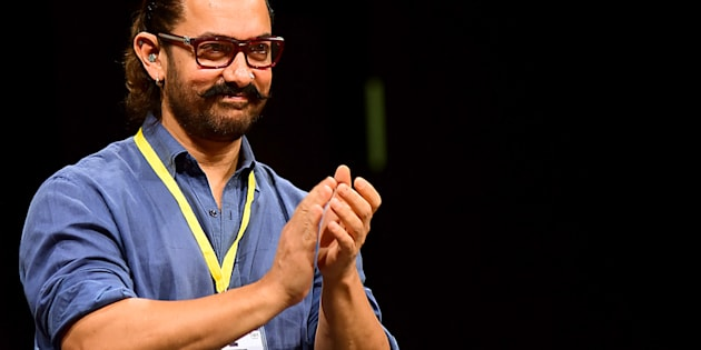 Bollywood actor Aamir Khan attends the 5th Indian Screenwriters Conference in Mumbai on August 1, 2018. (Photo by Sujit Jaiswal / AFP)        (Photo credit should read SUJIT JAISWAL/AFP/Getty Images)