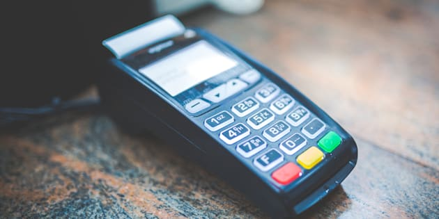 Photo of payment terminal