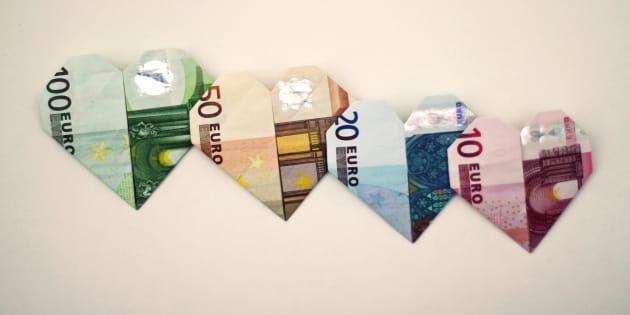 Des billets d'Euros. Illustration.