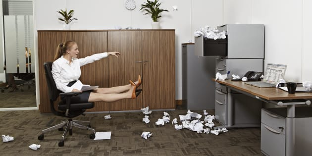 If your office looks like this, you mind want to try meditating.